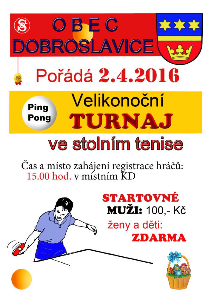 Velikonoční turnaj ve stolním tenise
