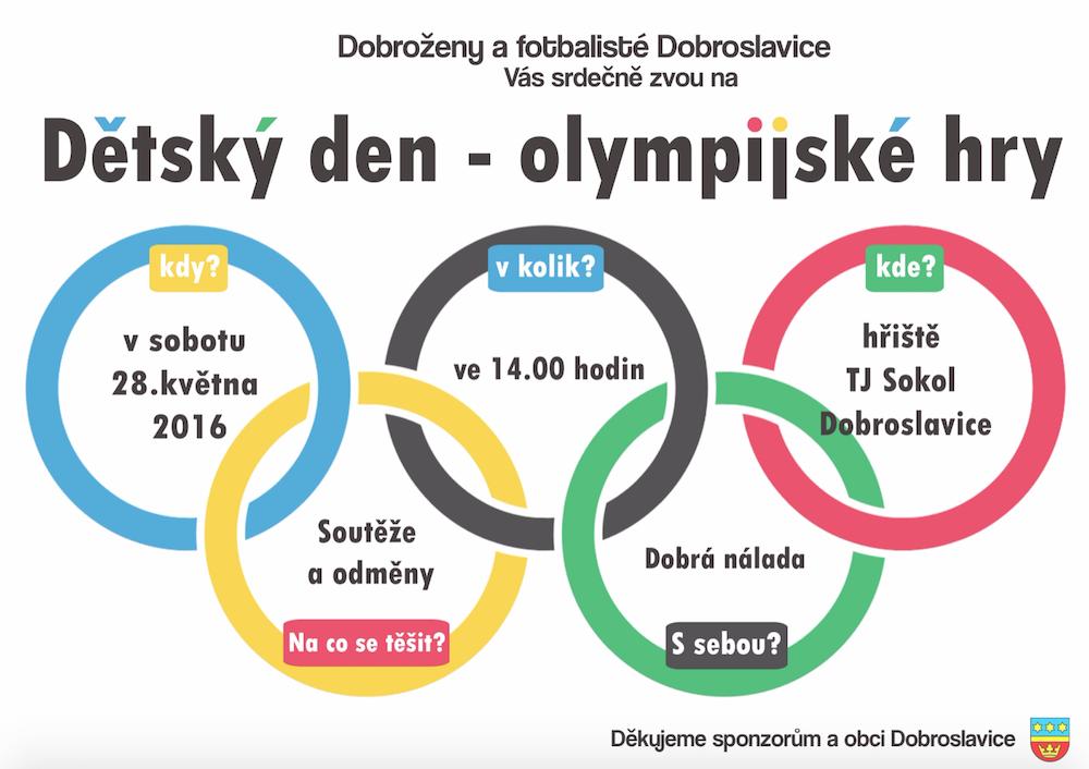 detsky den - olympijske hry