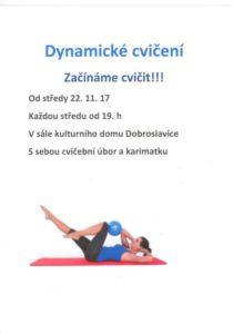 dynamické cvičení