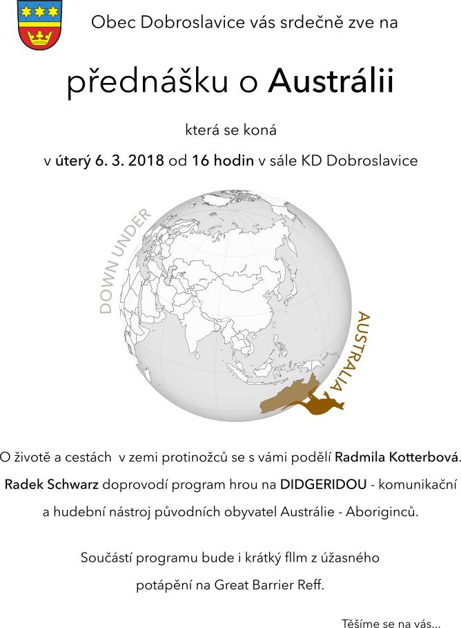 Přednáška o Austrálii