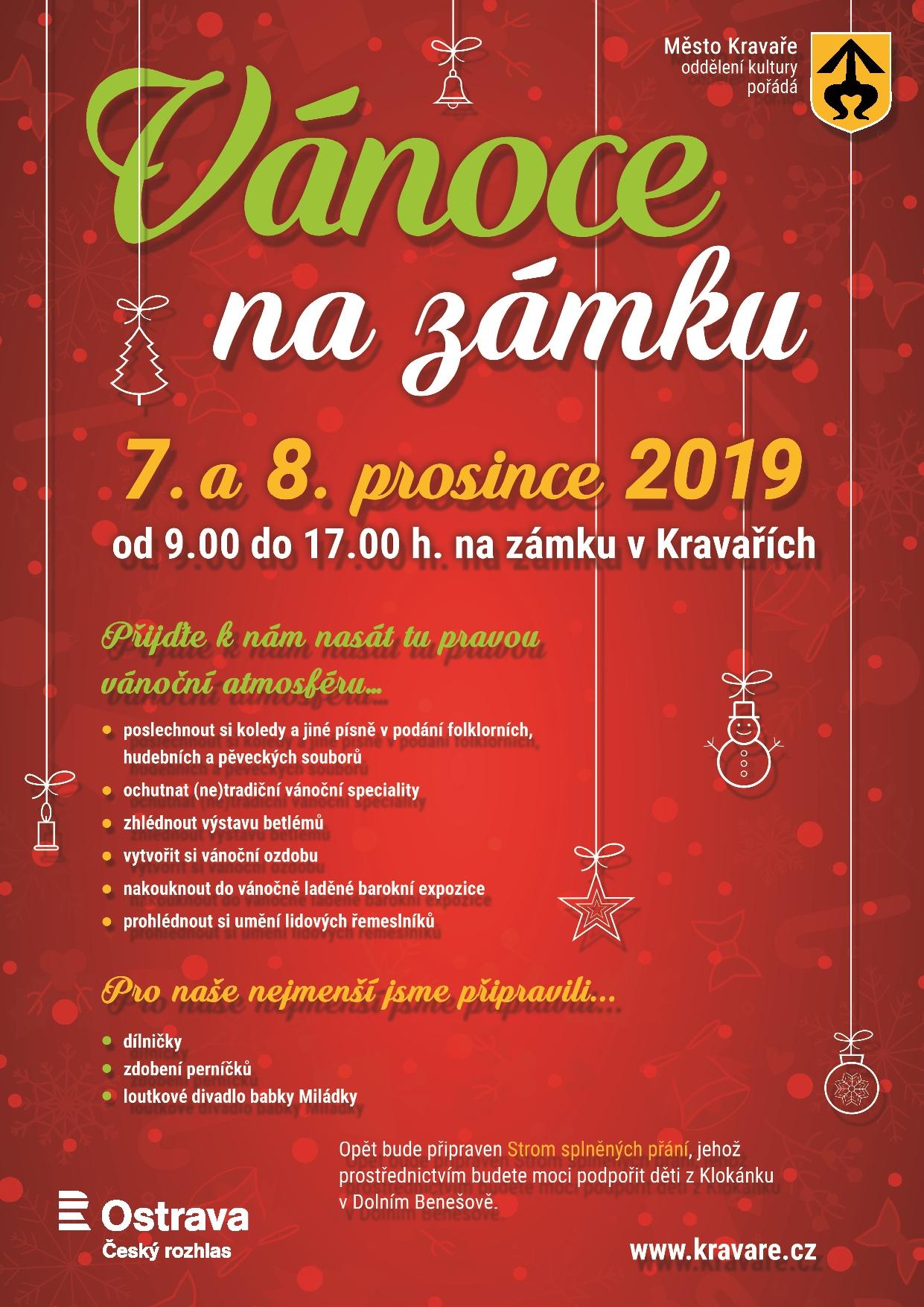 Vánoce na zámku Kravaře2019